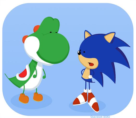 Yoshi et Sonic
